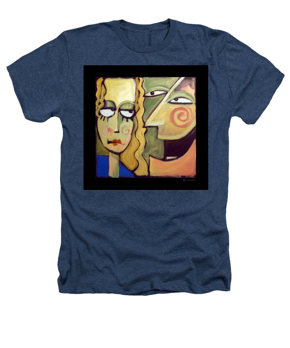 Humorous Heathers T-Shirt featuring the painting Smile by Tim Nyberg