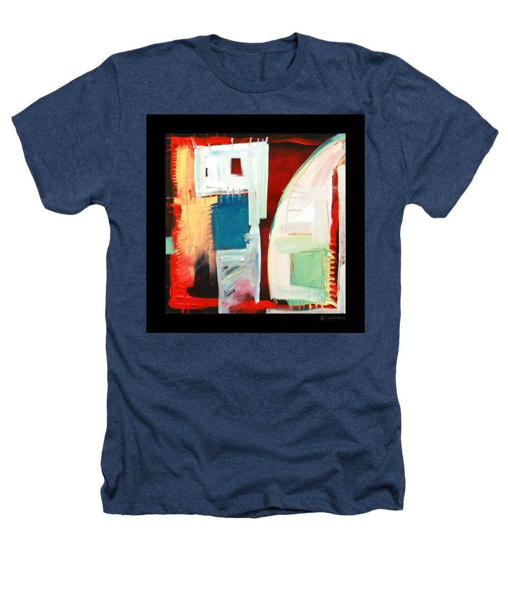 Color Heathers T-Shirt featuring the painting Smilin by Tim Nyberg