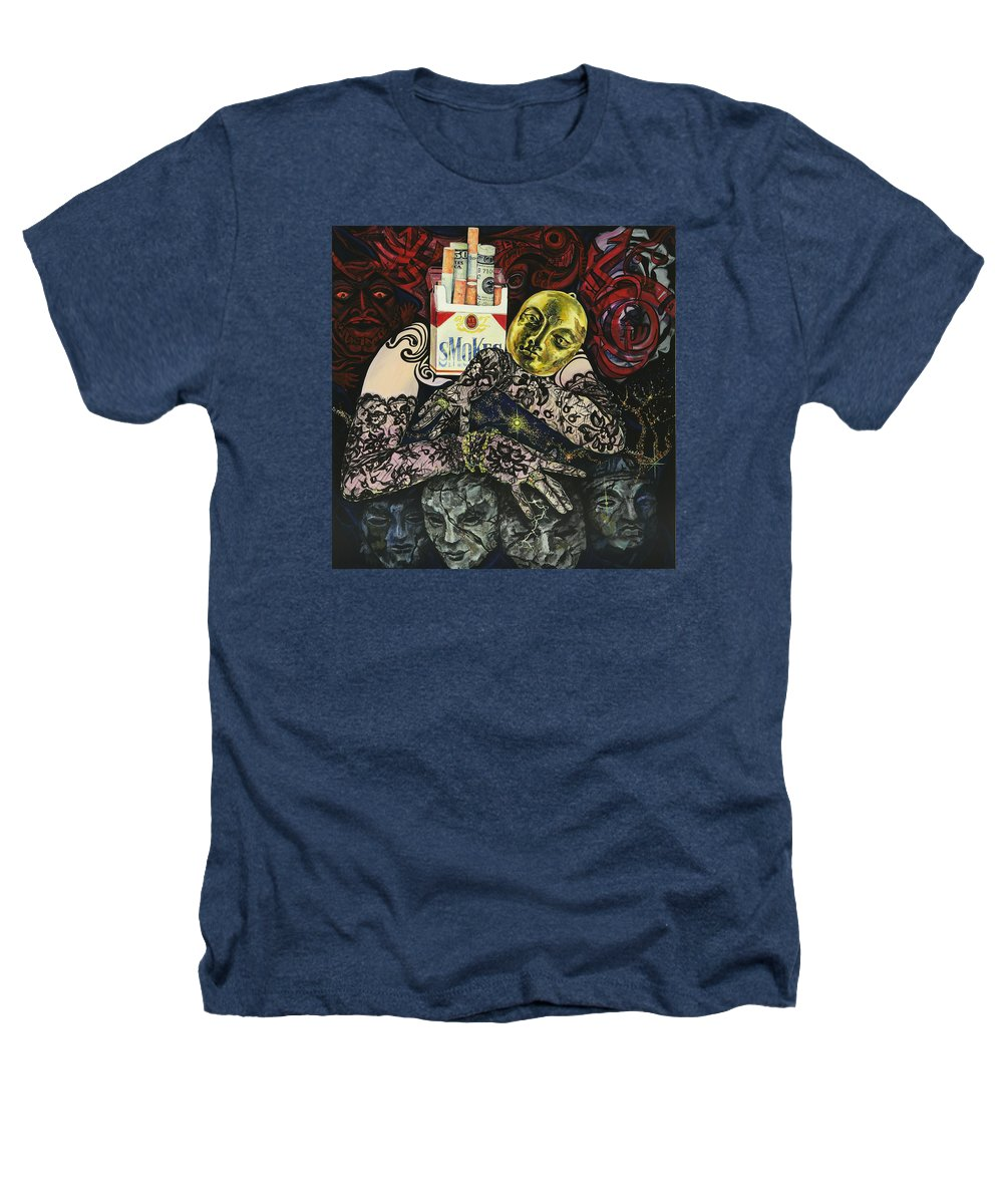 Surreal Heathers T-Shirt featuring the painting Smoke And Lace by Yelena Tylkina