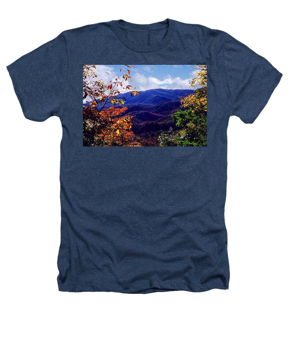 Mountain Heathers T-Shirt featuring the photograph Smoky Mountain Autumn View by Nancy Mueller