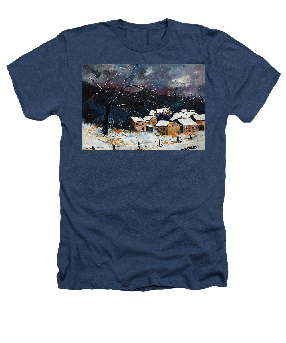 Snow Heathers T-Shirt featuring the painting Snow 57 by Pol Ledent