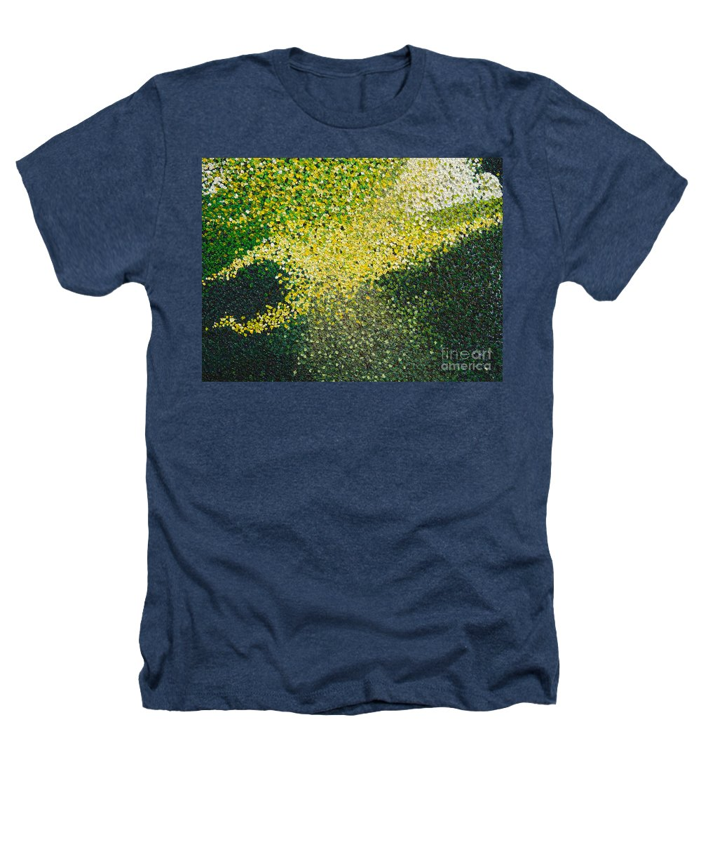Abstract Heathers T-Shirt featuring the painting Soft Green Light by Dean Triolo