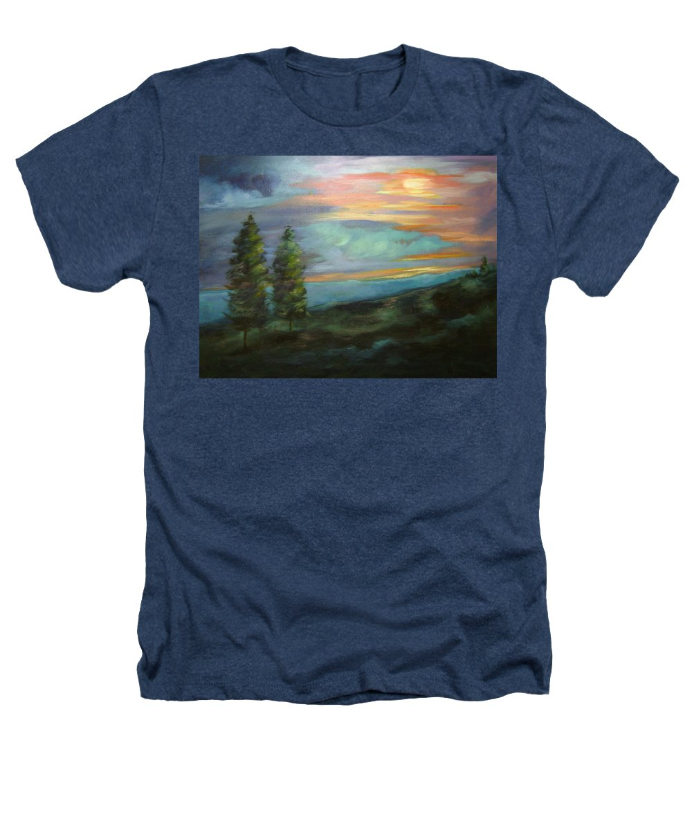 Landscape Heathers T-Shirt featuring the painting Soledad by Ginger Concepcion