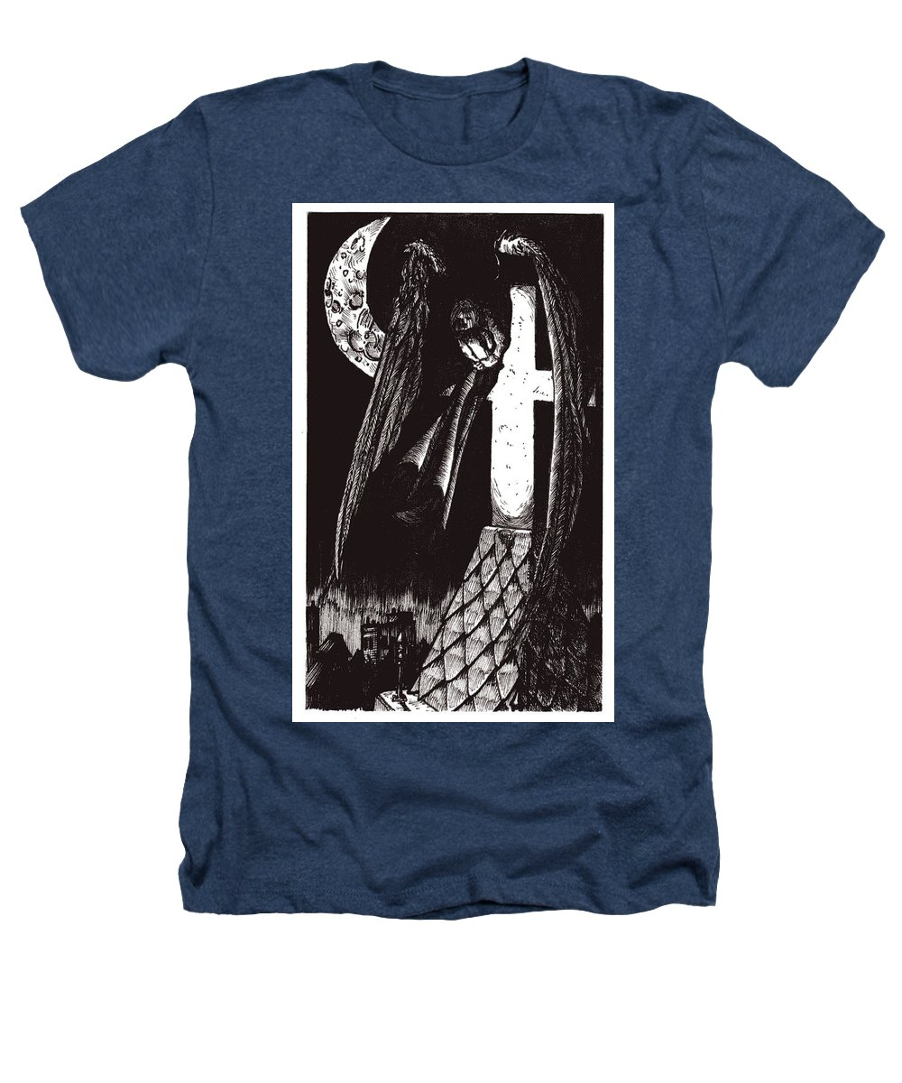 Angel Heathers T-Shirt featuring the drawing Solemn Vigil by Tobey Anderson