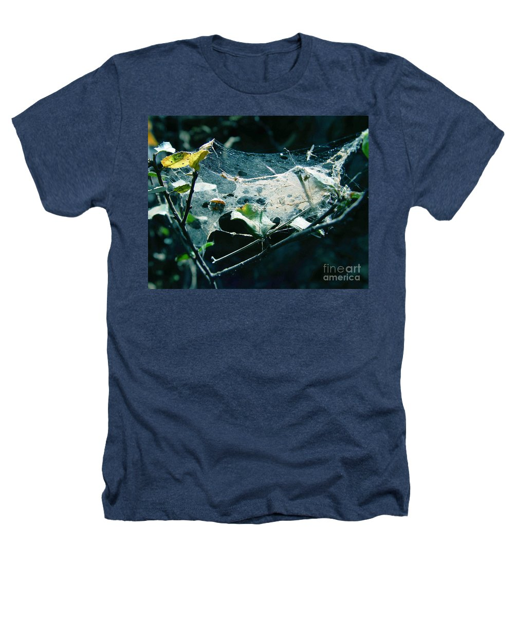 Spider Heathers T-Shirt featuring the photograph Spider Web by Peter Piatt