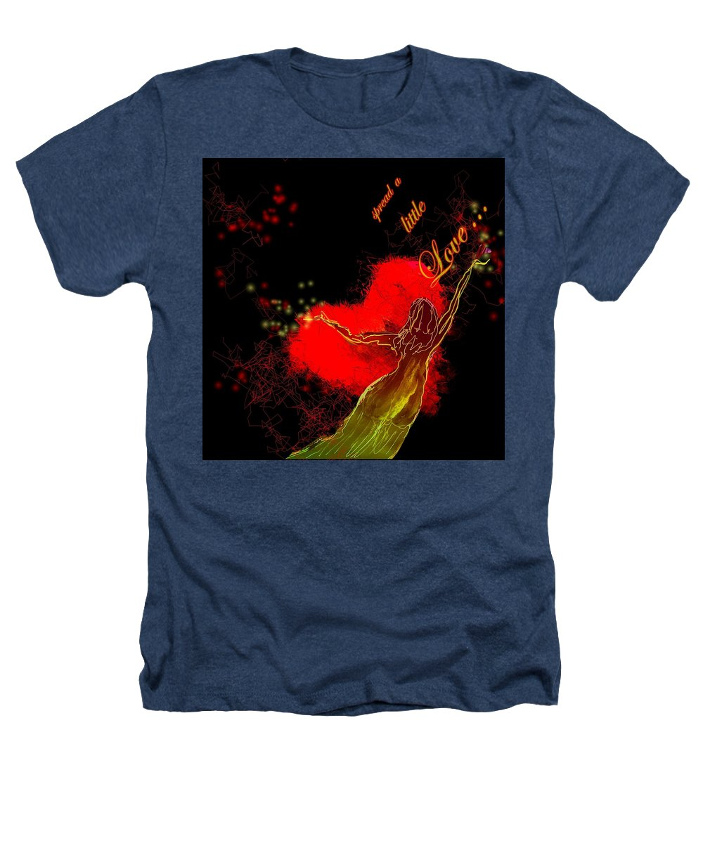 Love Heathers T-Shirt featuring the painting Spread A Little Love by Miki De Goodaboom