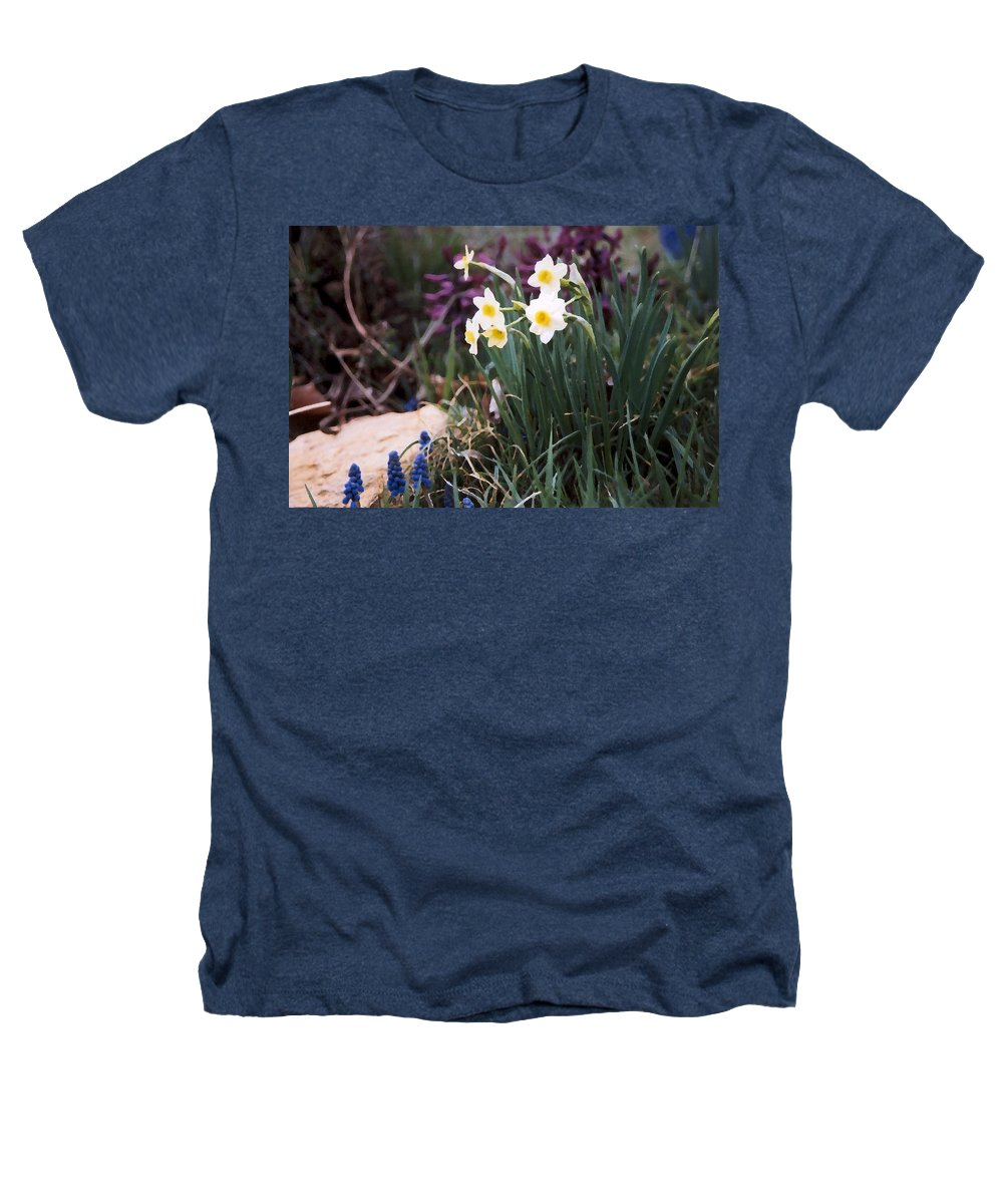 Flowers Heathers T-Shirt featuring the photograph Spring Garden by Steve Karol