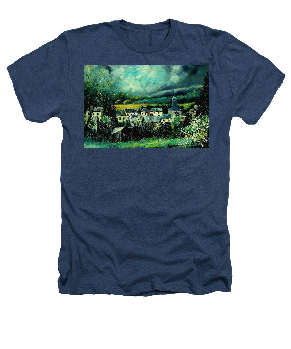 Tree Heathers T-Shirt featuring the painting Spring In Daverdisse by Pol Ledent