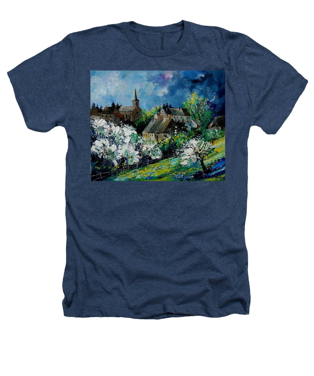 Spring Heathers T-Shirt featuring the painting Spring In Fays Famenne by Pol Ledent