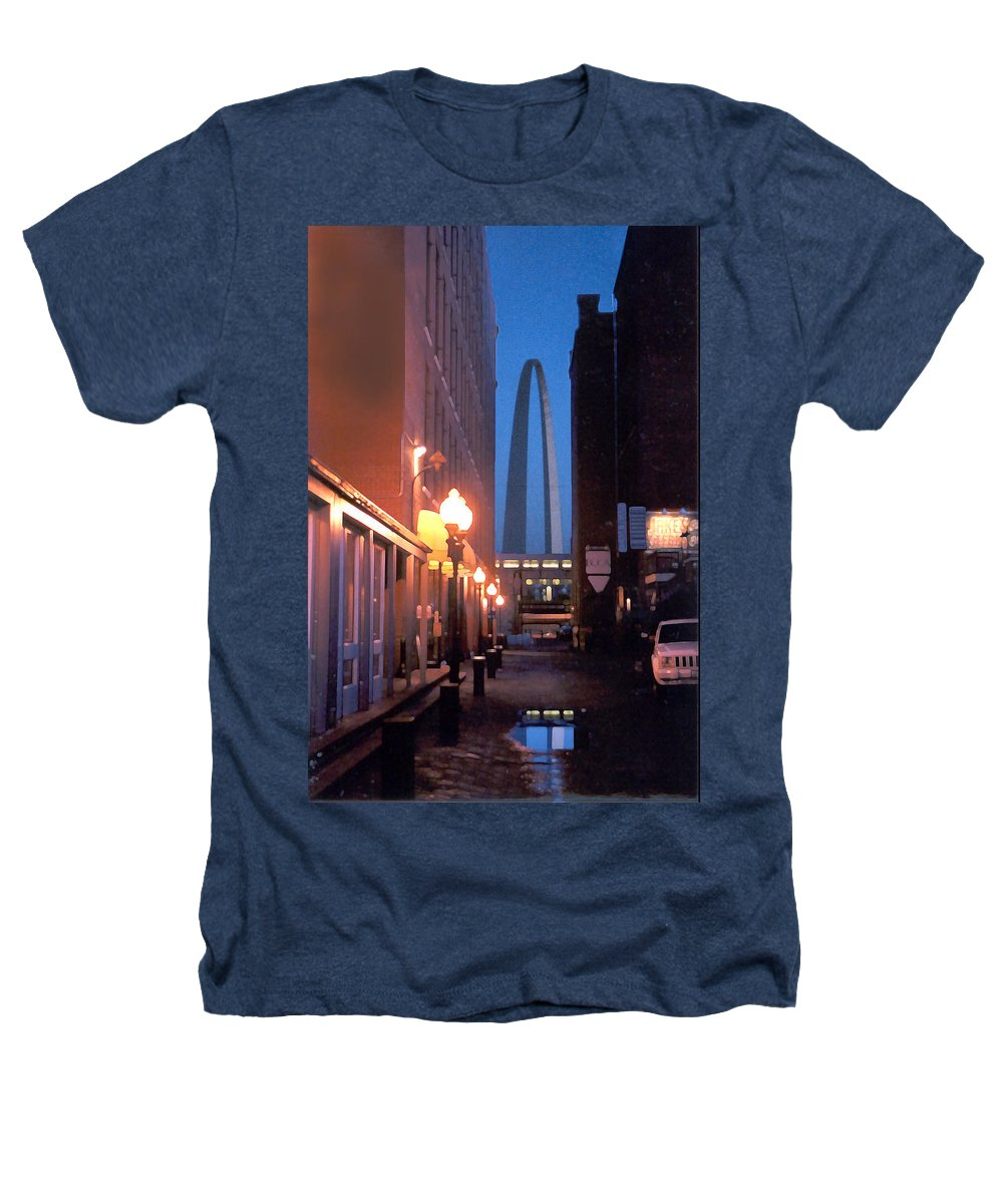 St. Louis Heathers T-Shirt featuring the photograph St. Louis Arch by Steve Karol