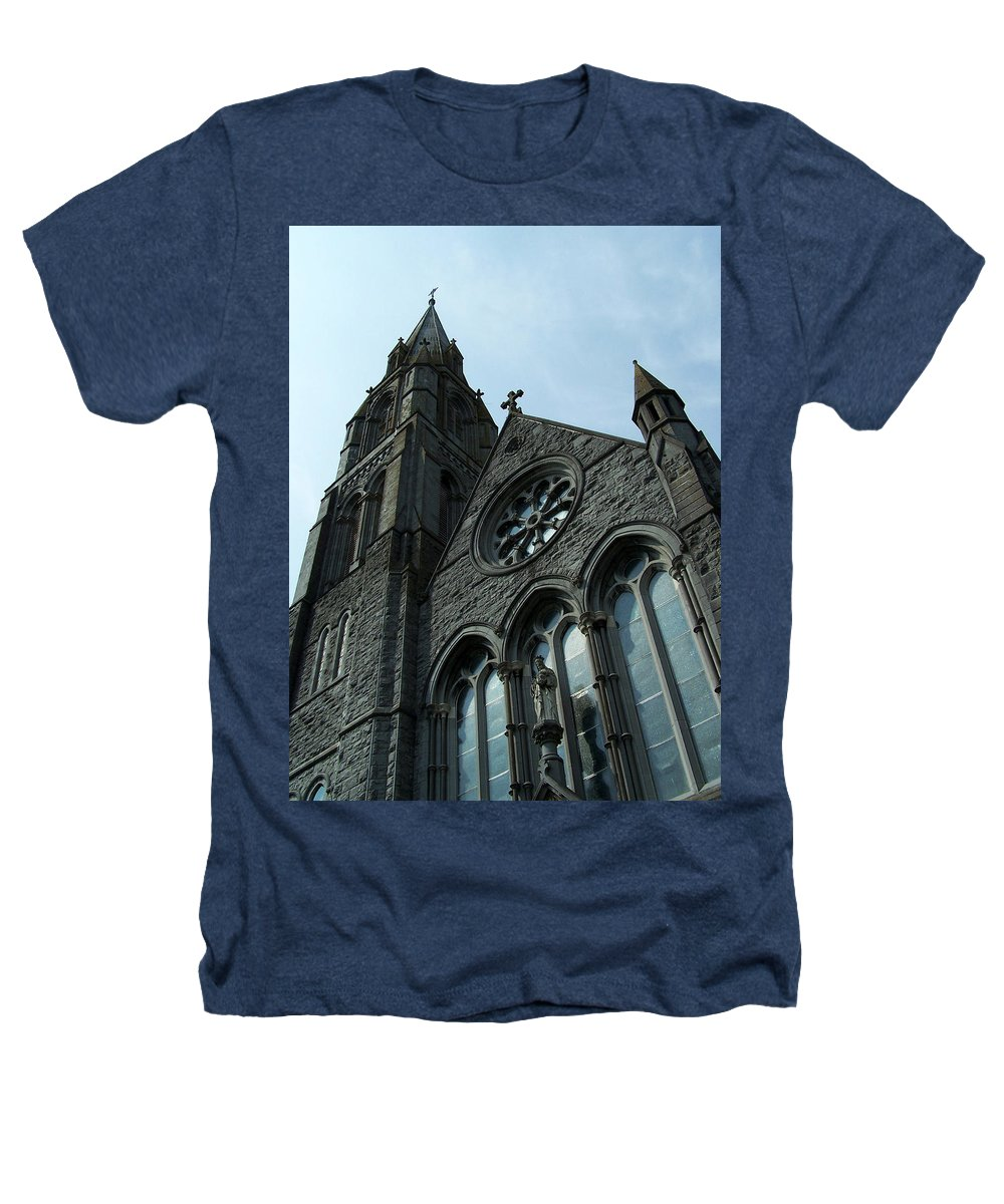 Ireland Heathers T-Shirt featuring the photograph St. Mary's Of The Rosary Catholic Church by Teresa Mucha