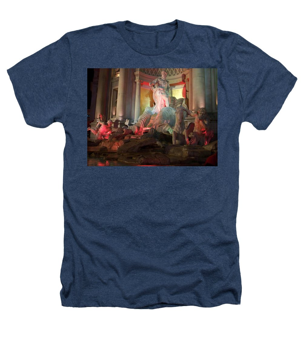 Ceasars Palace Heathers T-Shirt featuring the photograph Statues At Ceasars Palace by Anita Burgermeister