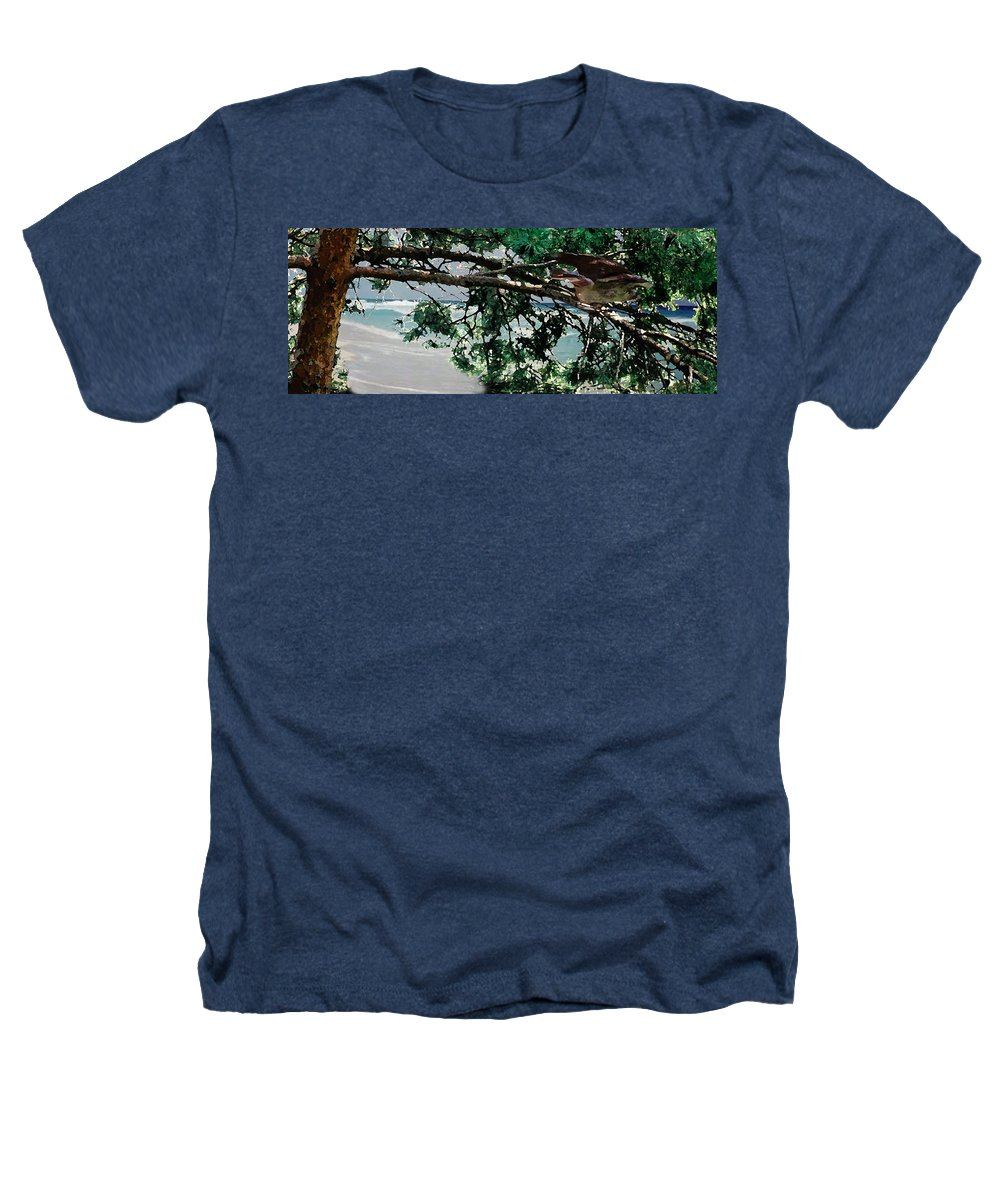 Landscape Heathers T-Shirt featuring the painting Stealth by Steve Karol