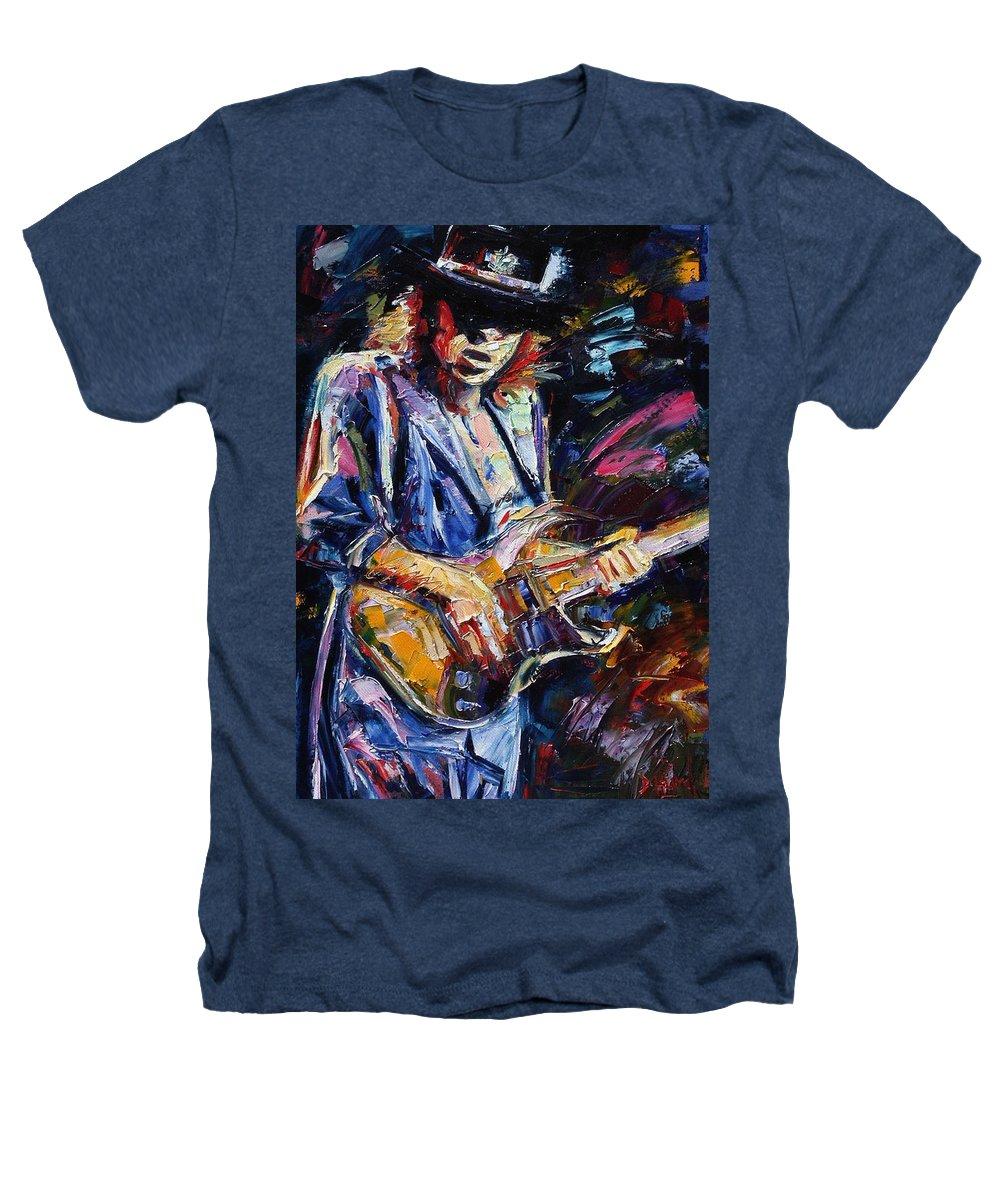 Stevie Ray Vaughan Painting Heathers T-Shirt featuring the painting Stevie Ray Vaughan by Debra Hurd