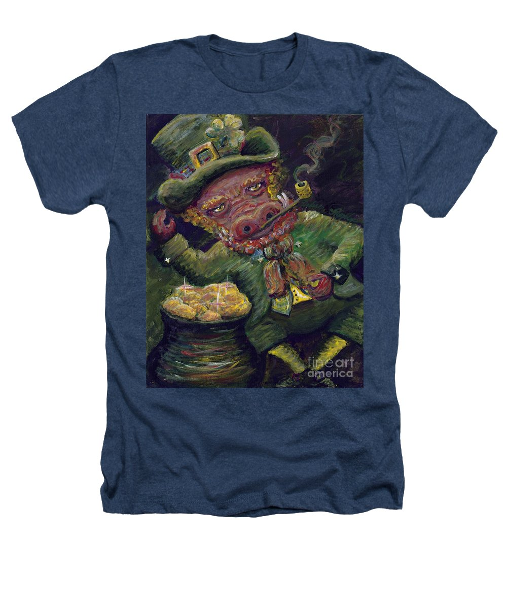 Hog Heathers T-Shirt featuring the painting St.patricks Day Pig by Nadine Rippelmeyer