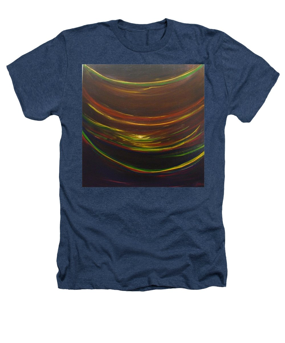 Rainbow Red Yellow Obama Heathers T-Shirt featuring the painting Strata Surf by Jack Diamond