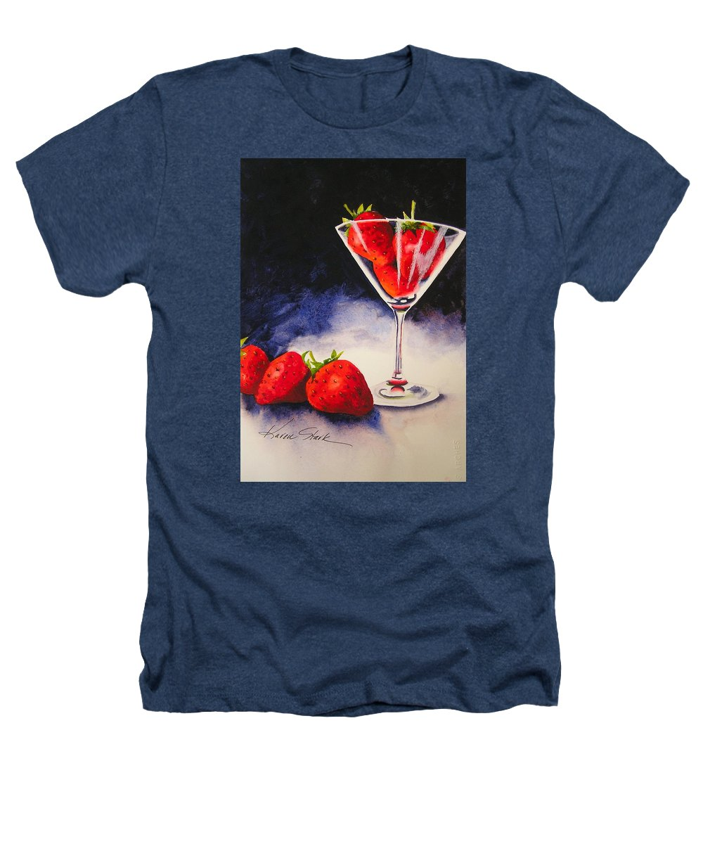 Strawberry Heathers T-Shirt featuring the painting Strawberrytini by Karen Stark