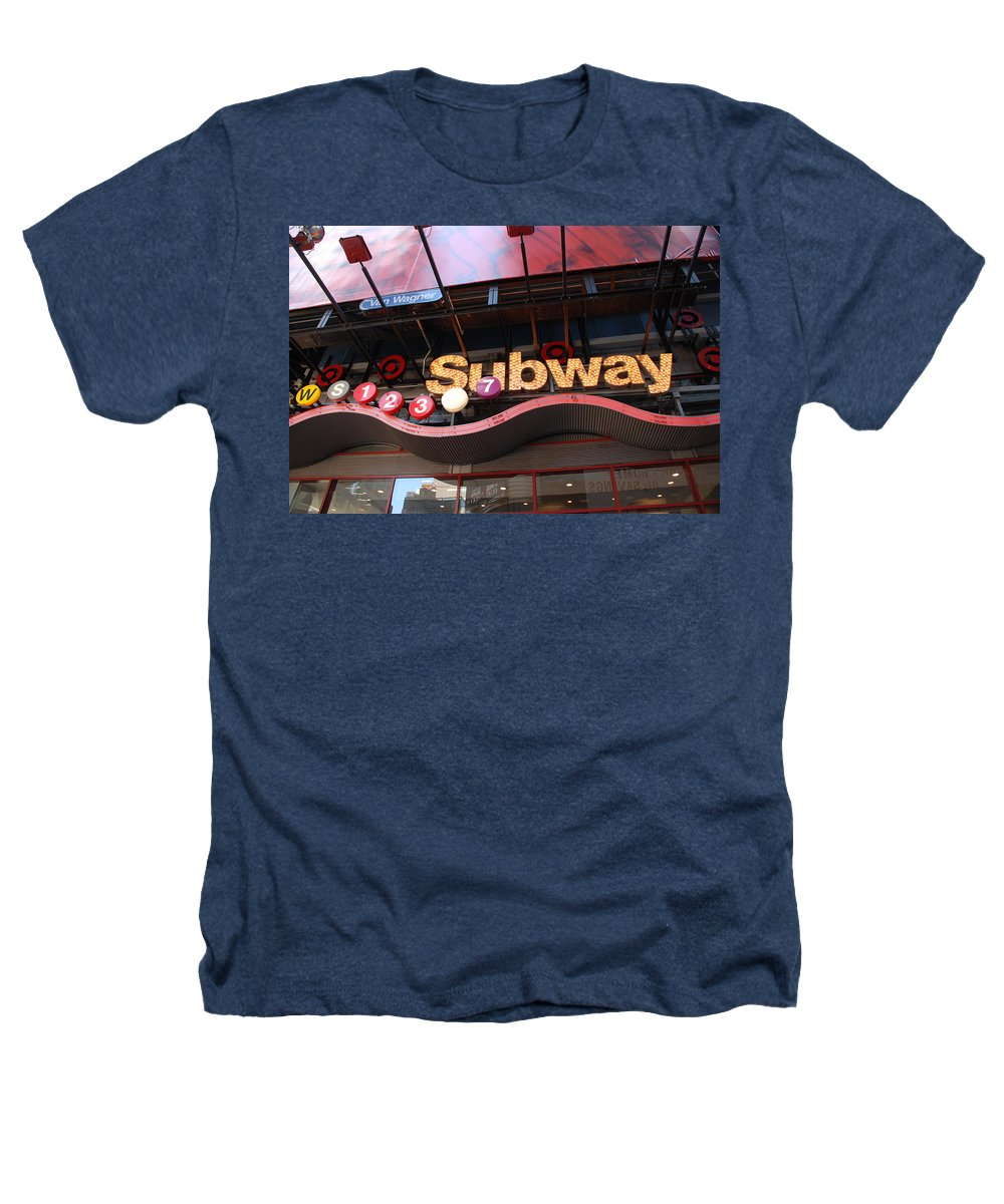 Neon Heathers T-Shirt featuring the photograph Subway by Rob Hans