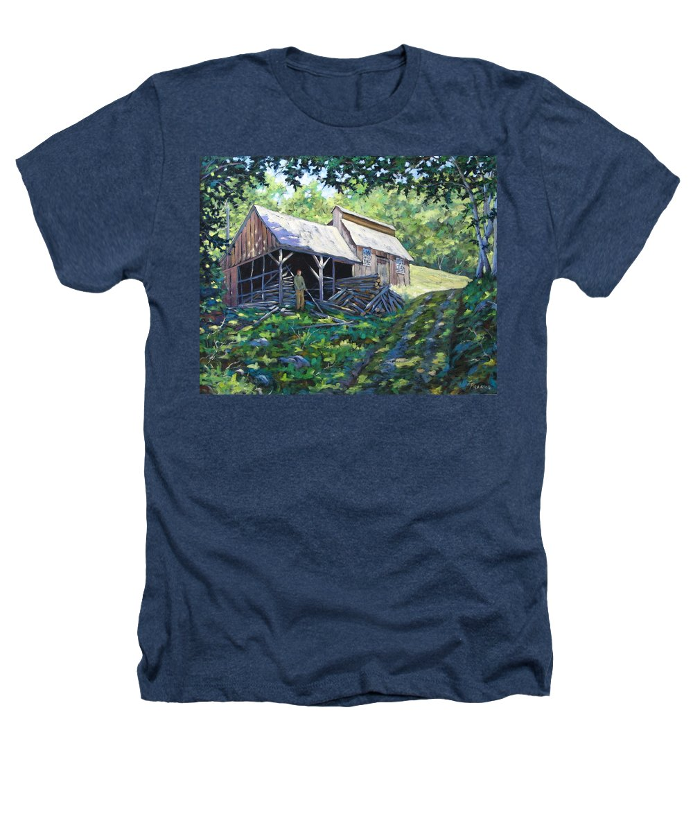 Sugar Shack Heathers T-Shirt featuring the painting Sugar Shack In July by Richard T Pranke