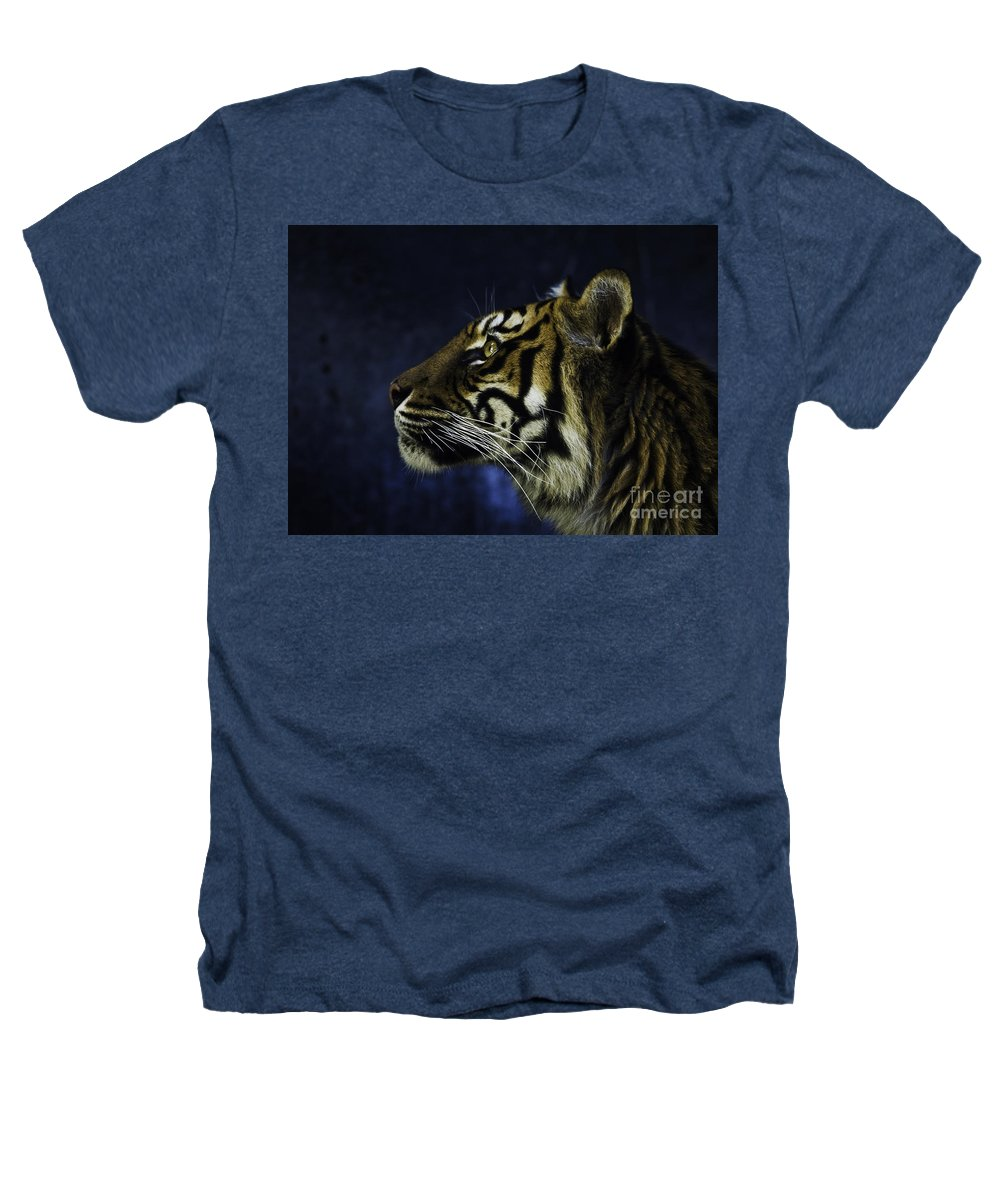 Sumatran Tiger Heathers T-Shirt featuring the photograph Sumatran Tiger Profile by Sheila Smart Fine Art Photography