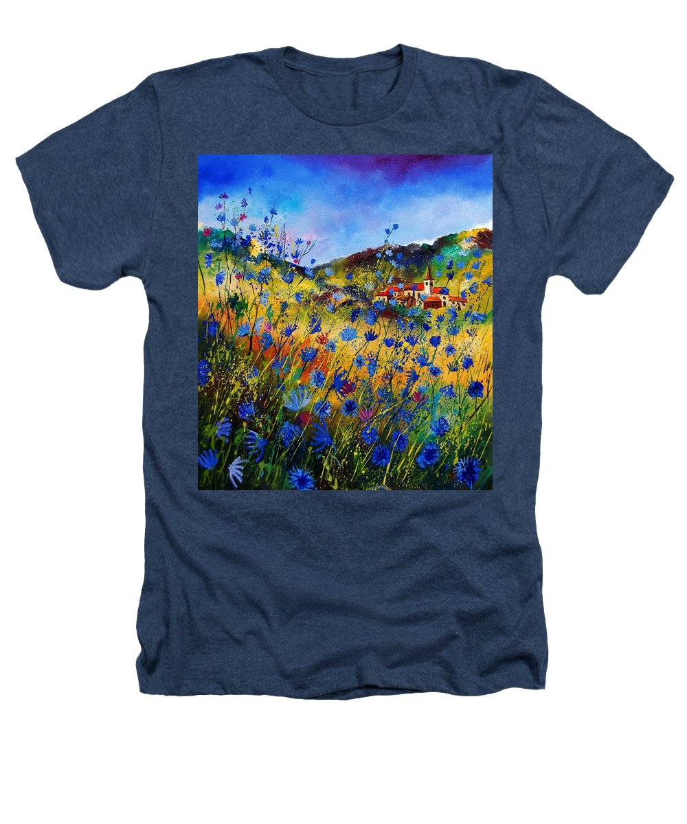 Flowers Heathers T-Shirt featuring the painting Summer Glory by Pol Ledent