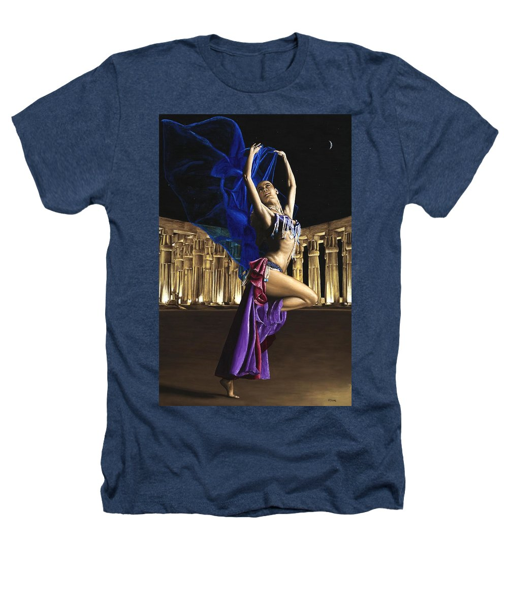 Belly Heathers T-Shirt featuring the painting Sun Court Dancer by Richard Young