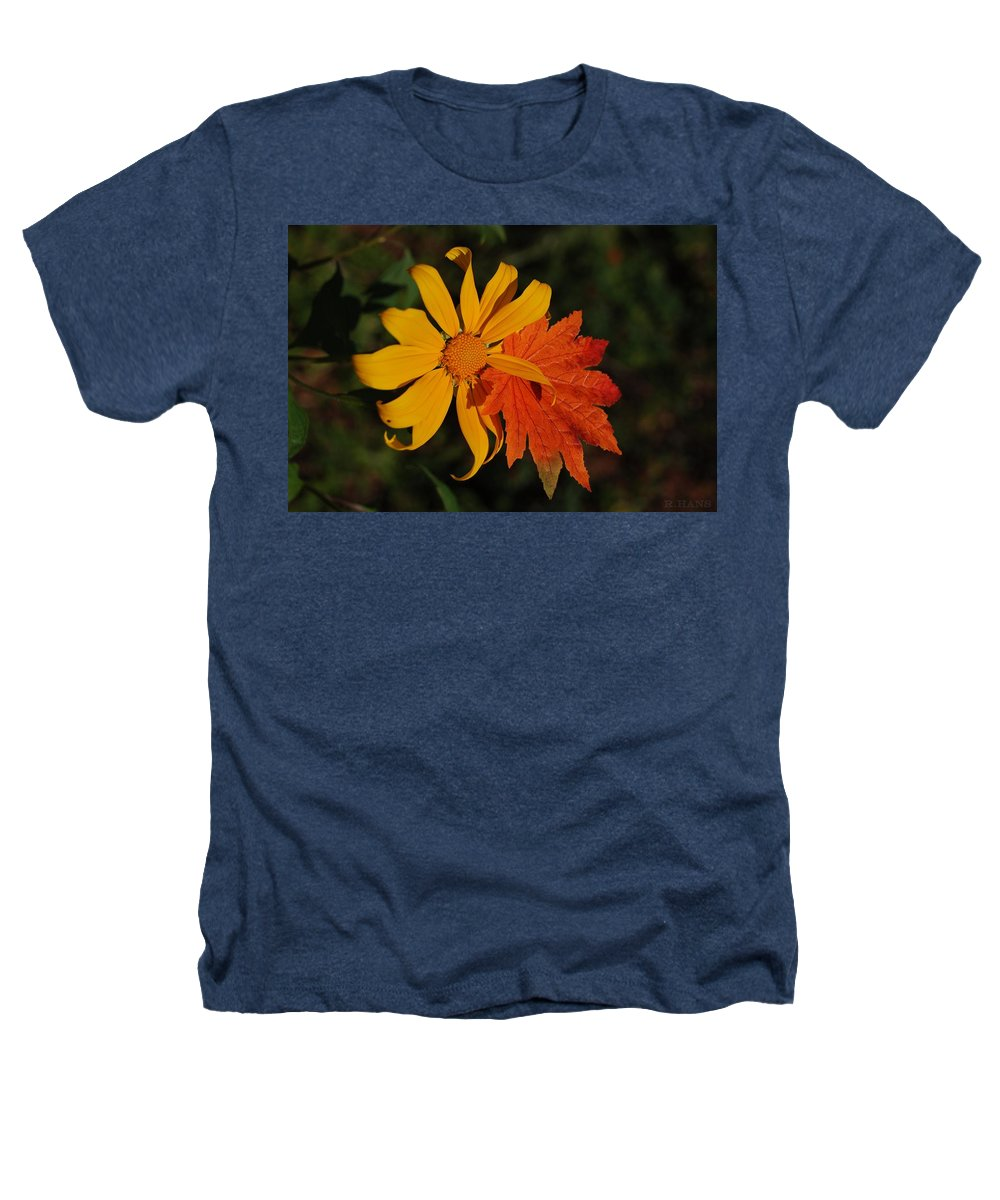 Pop Art Heathers T-Shirt featuring the photograph Sun Flower And Leaf by Rob Hans