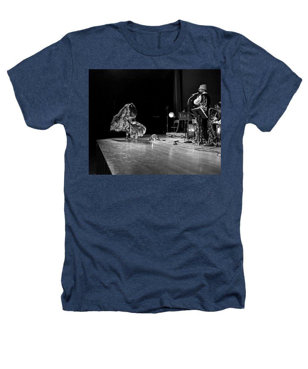 Jazz Heathers T-Shirt featuring the photograph Sun Ra Arkestra At Freeborn Hall by Lee Santa
