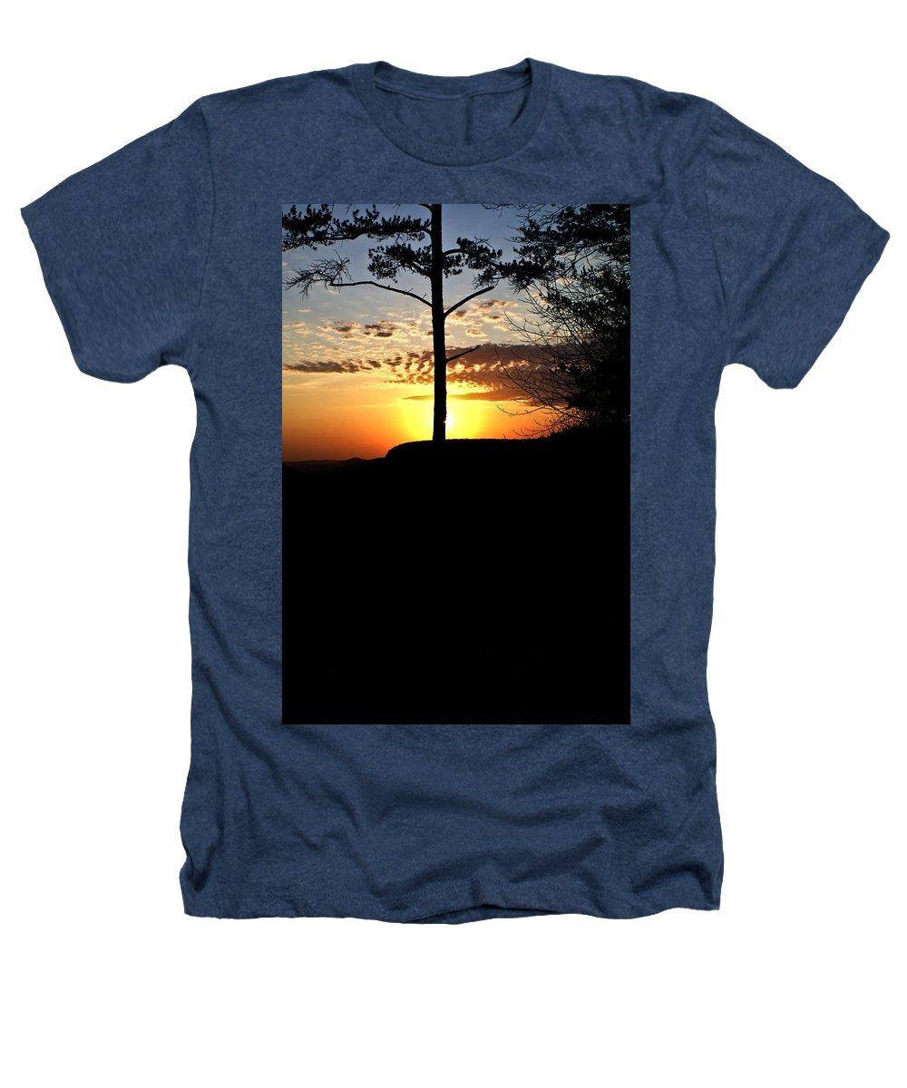 Sunburst Heathers T-Shirt featuring the photograph Sunburst Sunset by Douglas Barnett