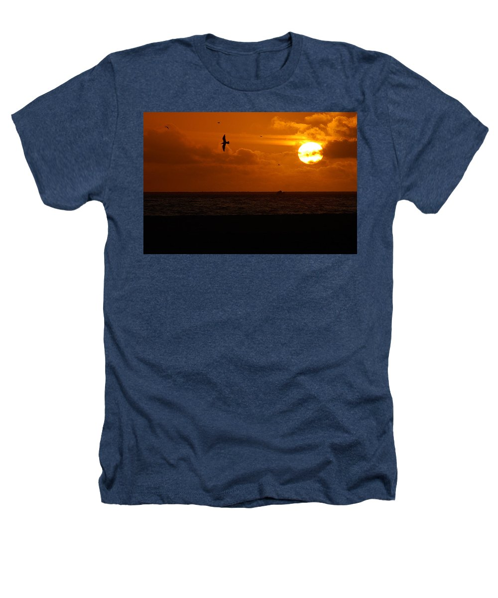 Clay Heathers T-Shirt featuring the photograph Sundown Flight by Clayton Bruster