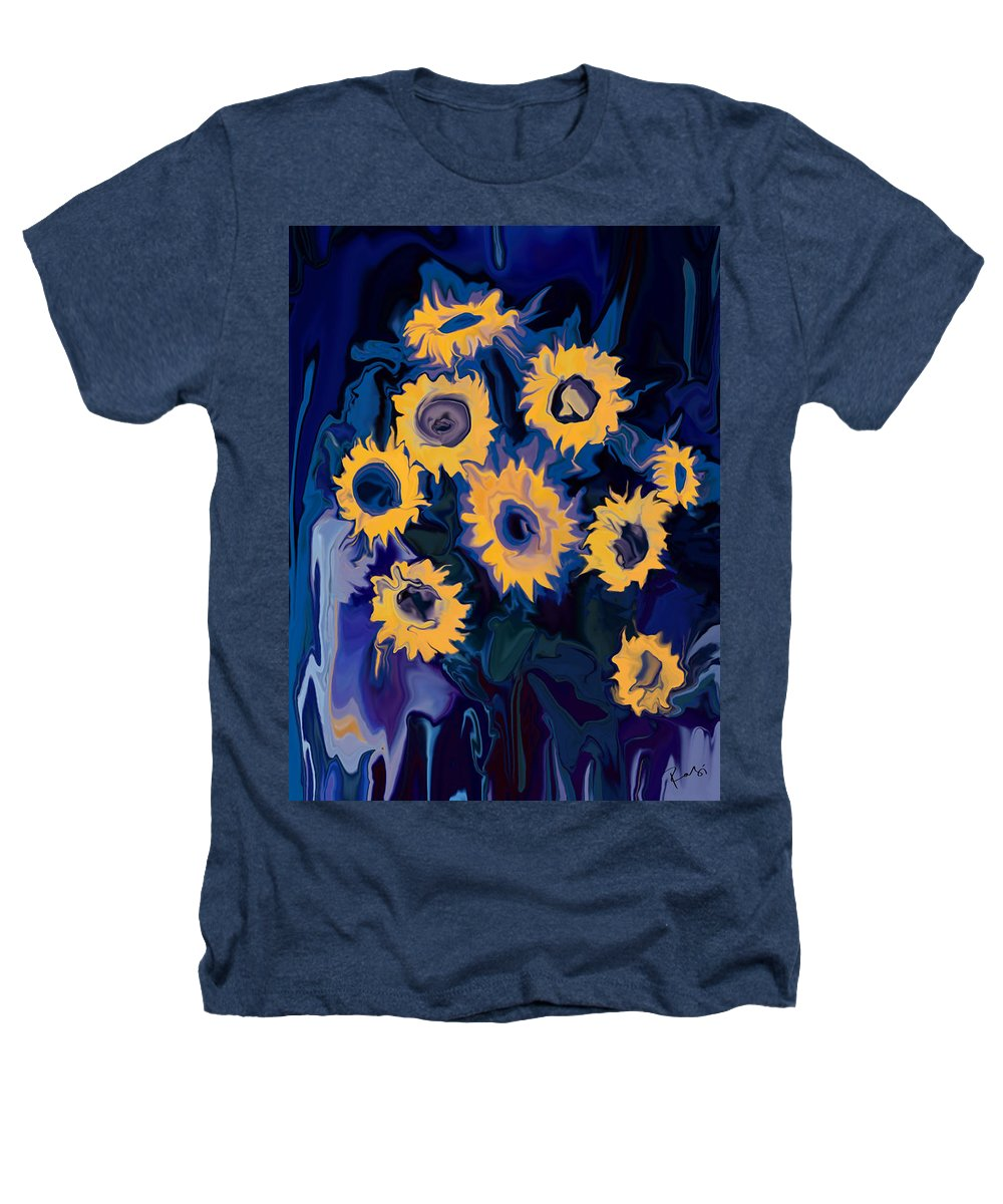 Art Heathers T-Shirt featuring the digital art Sunflower 1 by Rabi Khan