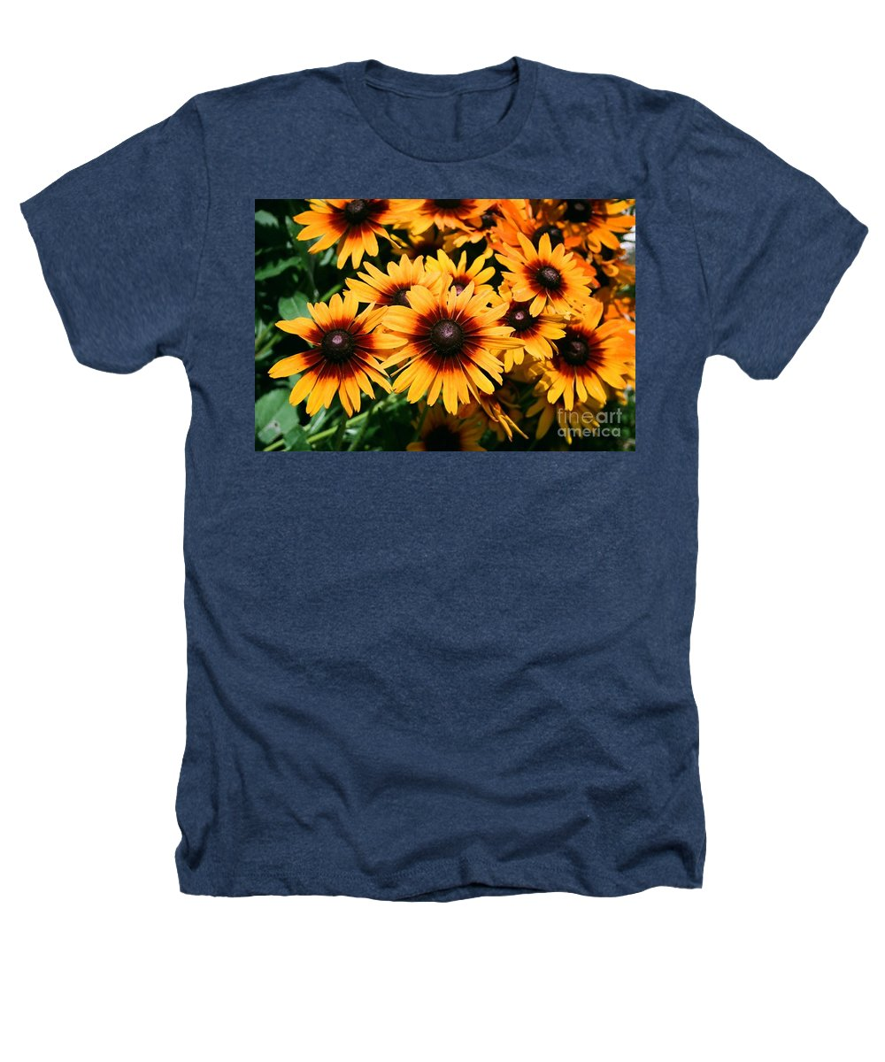 Sunflowers Heathers T-Shirt featuring the photograph Sunflowers by Dean Triolo