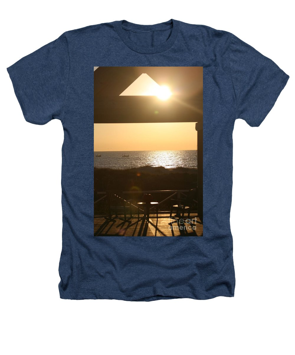 Sunrise Heathers T-Shirt featuring the photograph Sunrise Through The Pavilion by Nadine Rippelmeyer
