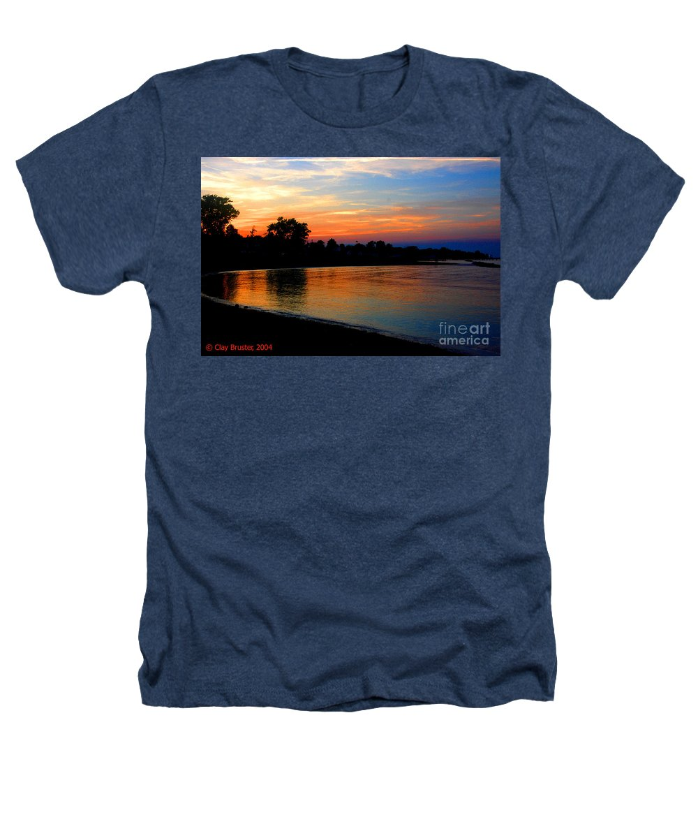 Clay Heathers T-Shirt featuring the photograph Sunset At Colonial Beach Cove by Clayton Bruster