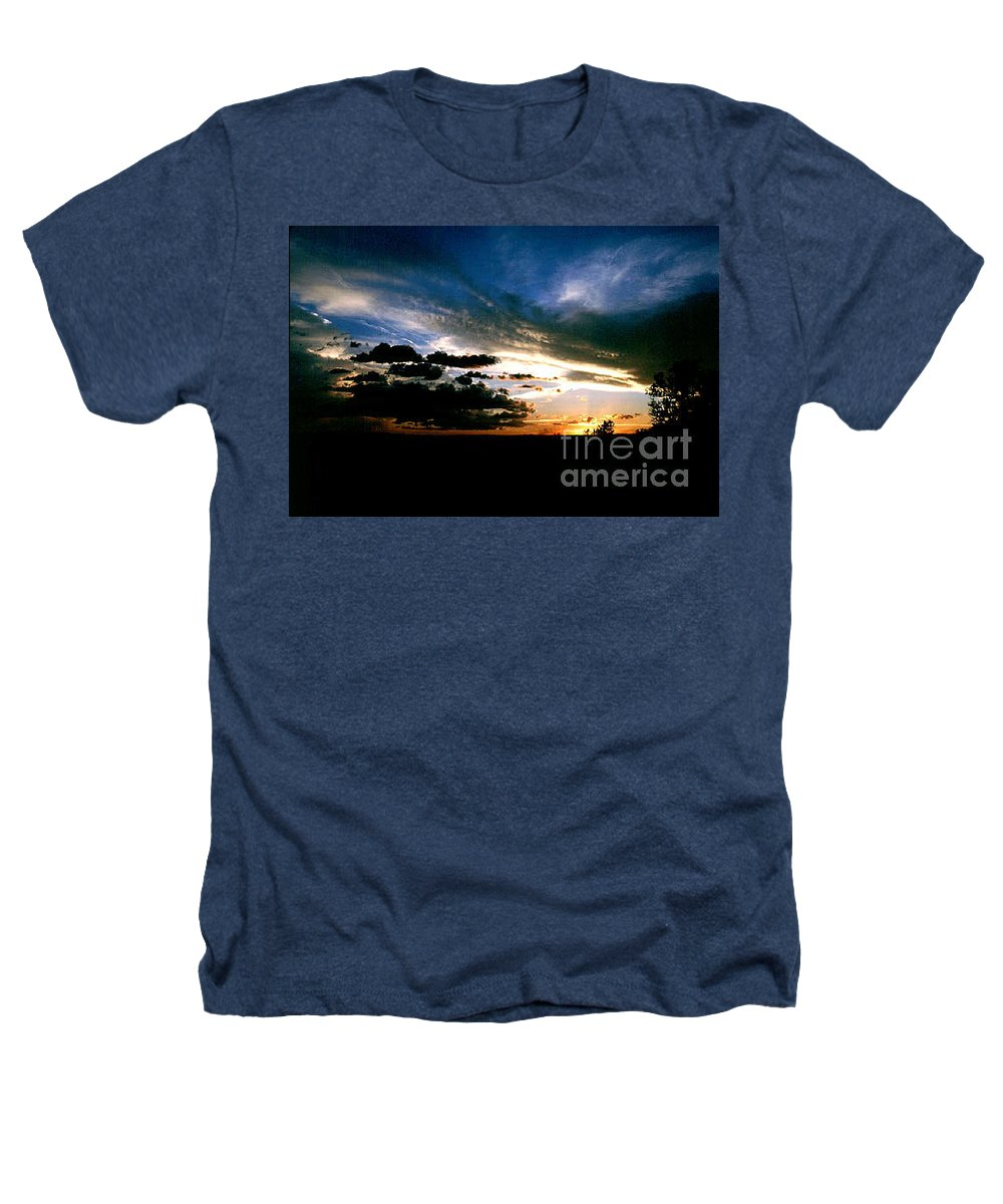 Sunset Heathers T-Shirt featuring the photograph Sunset At The North Rim by Kathy McClure