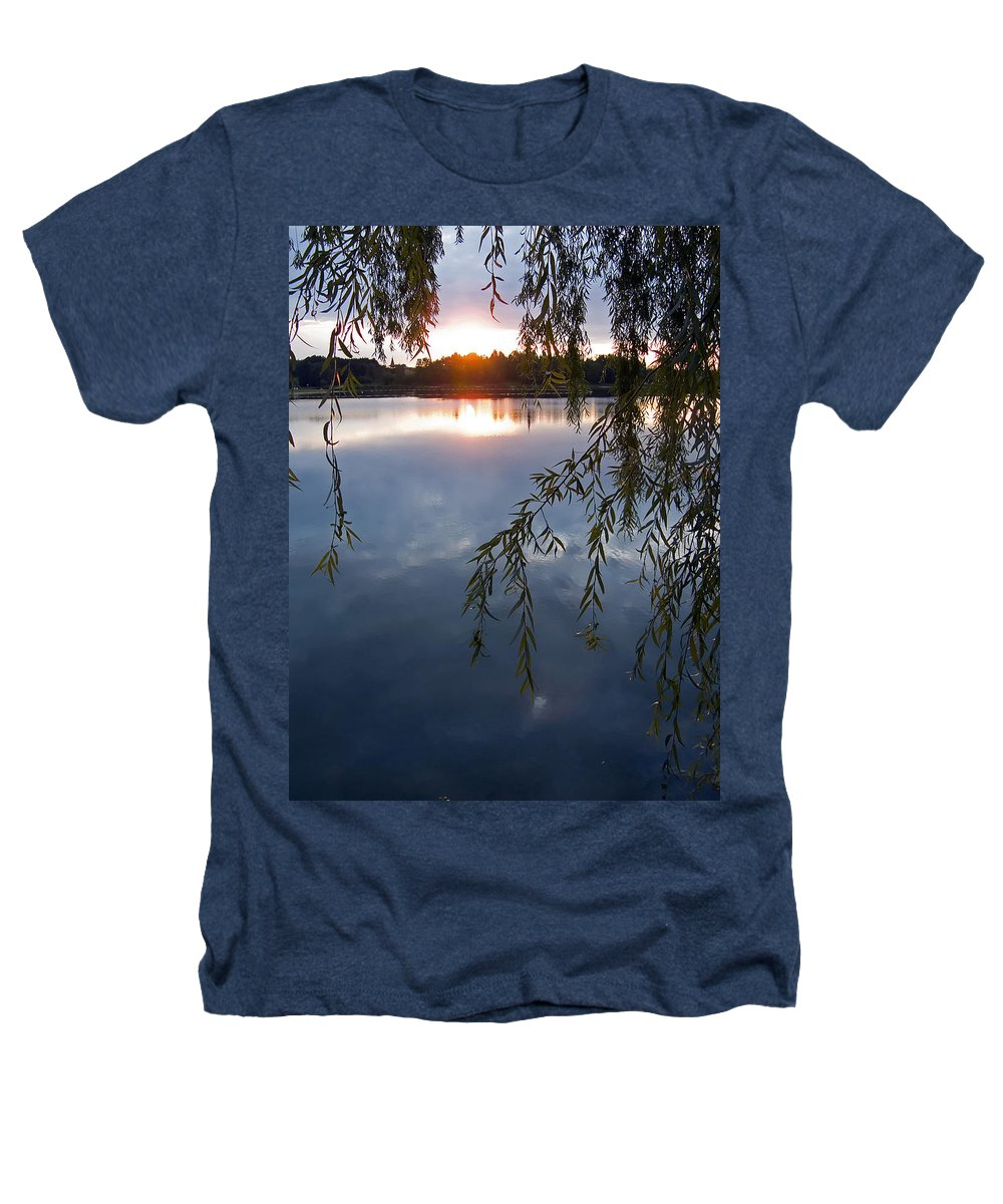 Nature Heathers T-Shirt featuring the photograph Sunset by Daniel Csoka