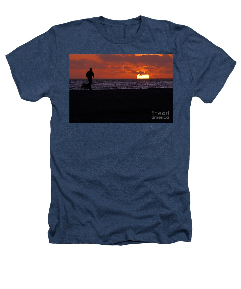 Clay Heathers T-Shirt featuring the photograph Sunset Run by Clayton Bruster