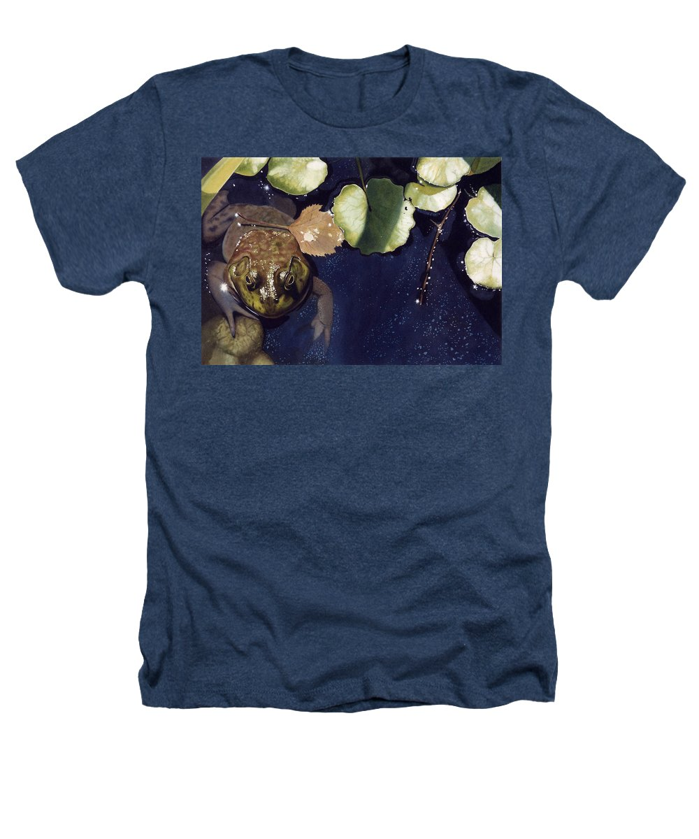 Frog Heathers T-Shirt featuring the painting Sunspots by Denny Bond