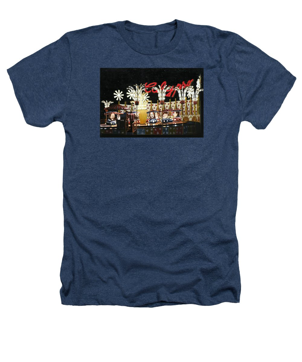 Surreal Heathers T-Shirt featuring the painting Surreal Carnival by Dave Martsolf