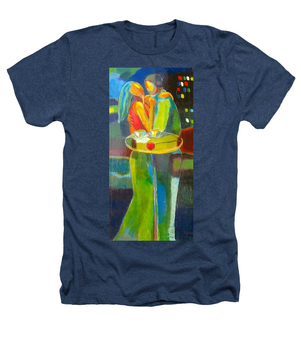 Love Heathers T-Shirt featuring the painting Sweet Moment by Habib Ayat