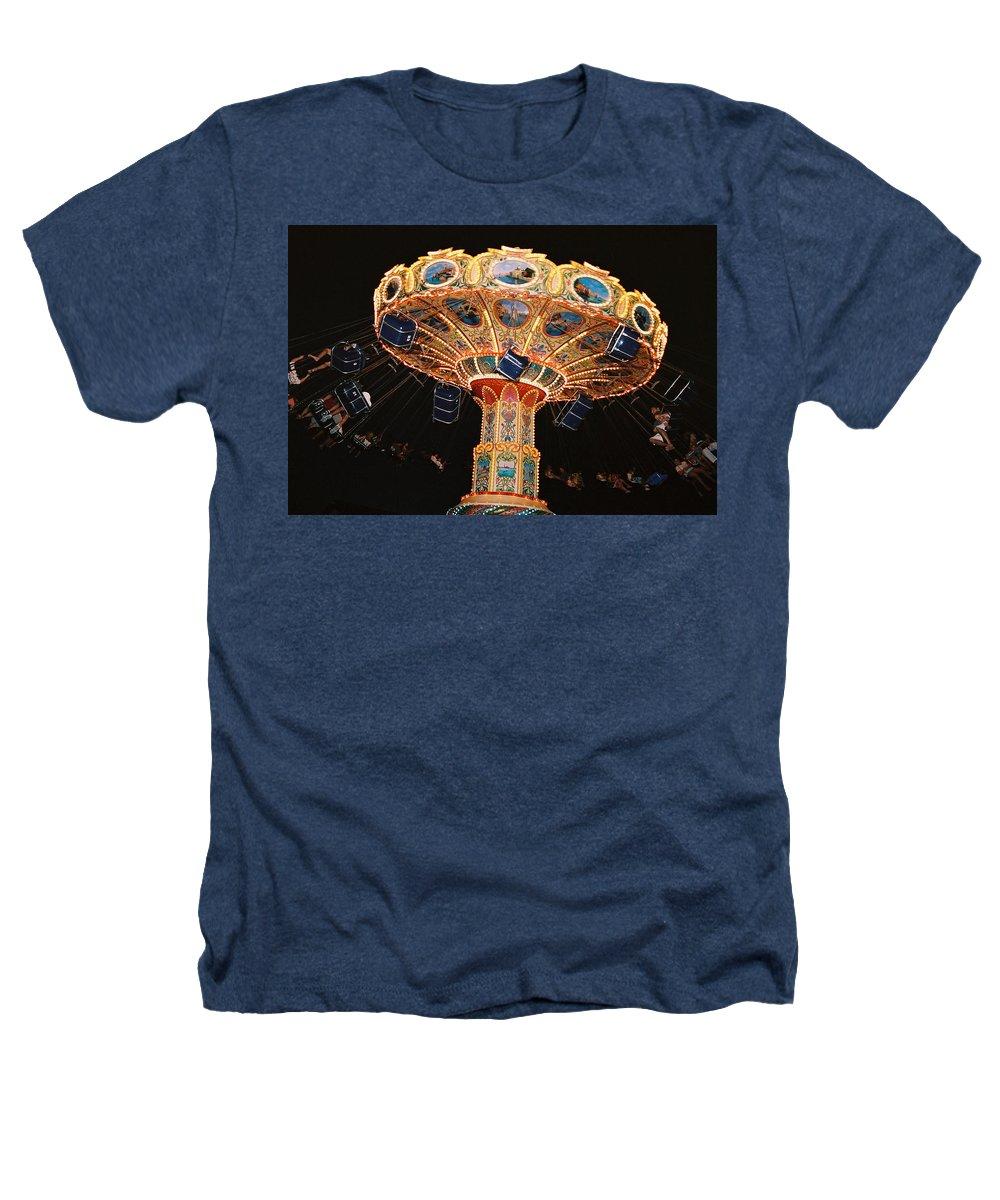 Boardwalk Heathers T-Shirt featuring the photograph Swing by Steve Karol