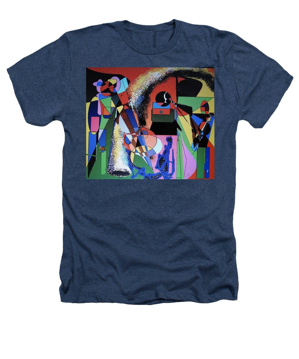 Jazz Heathers T-Shirt featuring the digital art Swinging Trio by Ian MacDonald