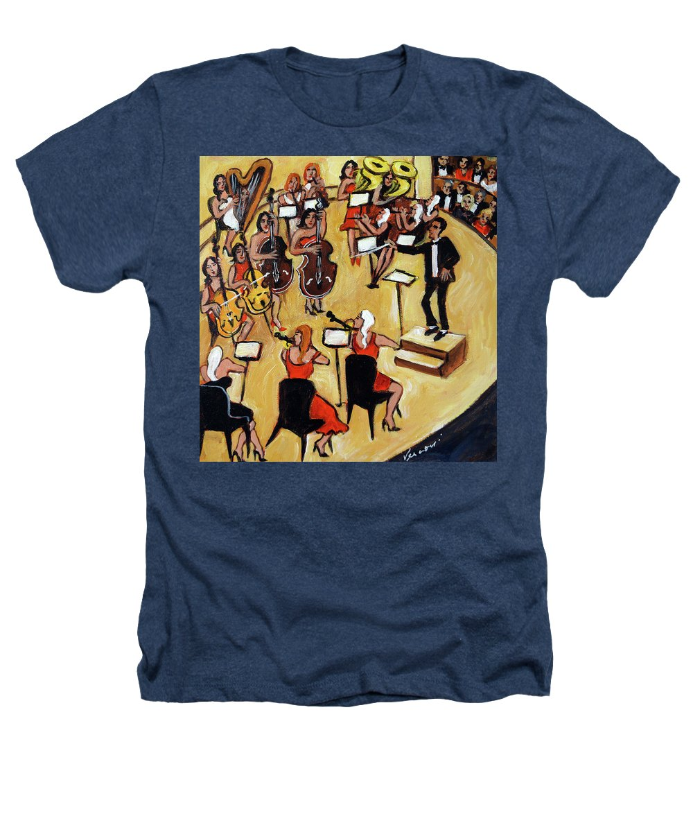 Carnegie Hall Orchestra Heathers T-Shirt featuring the painting Symphony by Valerie Vescovi