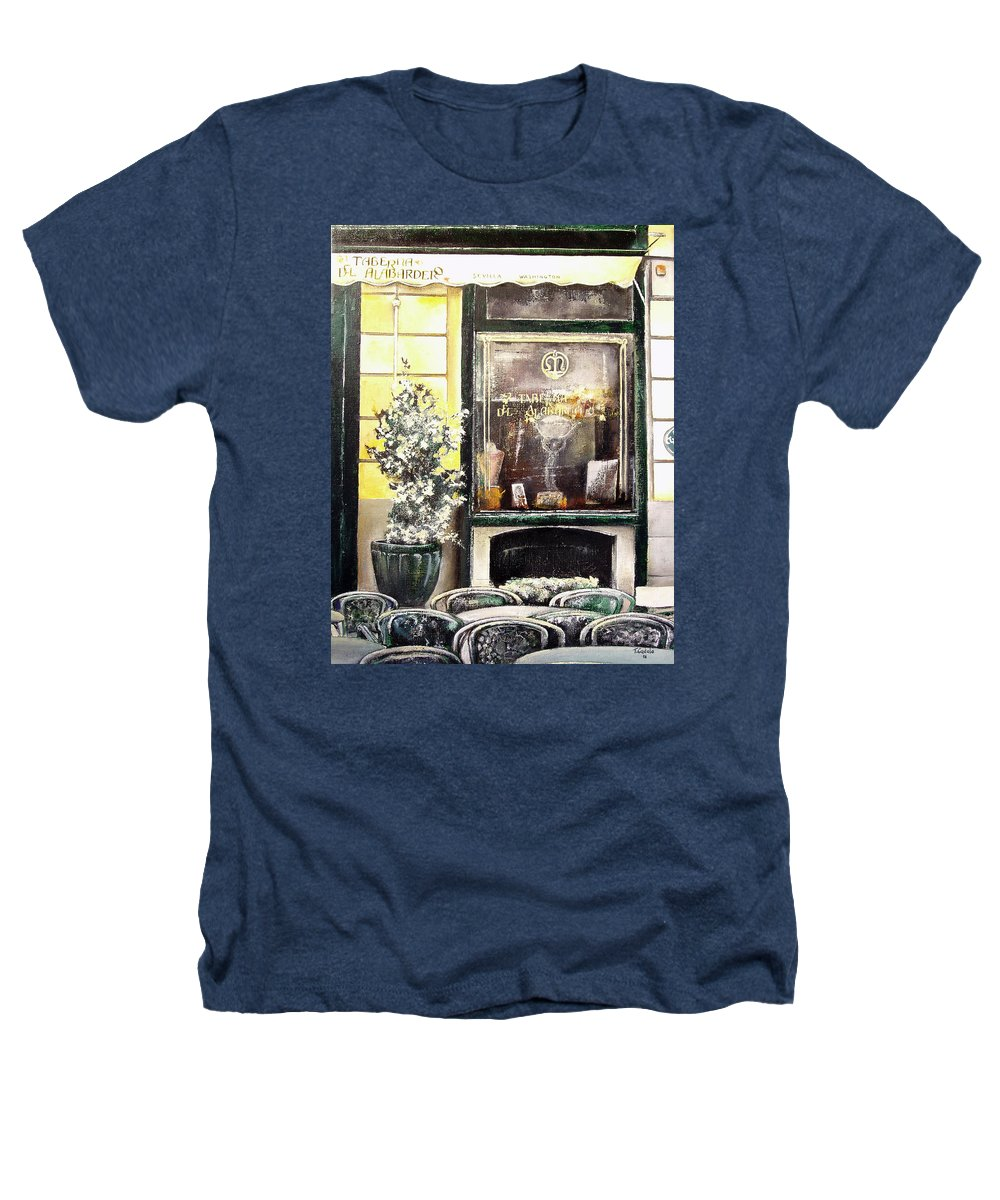 Old Heathers T-Shirt featuring the painting Taberna Del Alabardero-madrid by Tomas Castano