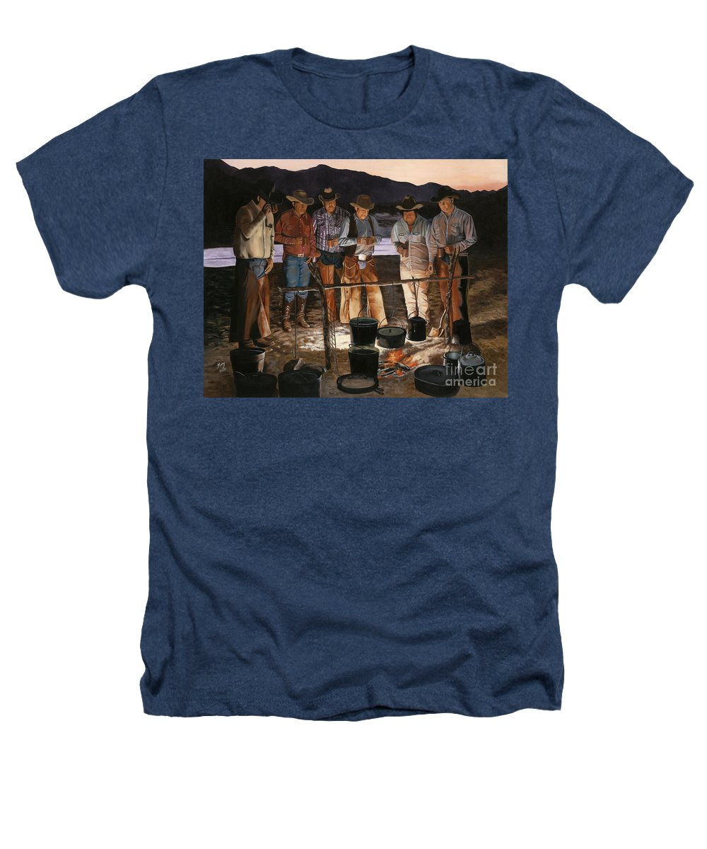 Arizona Heathers T-Shirt featuring the painting Tall Tales by Mary Rogers