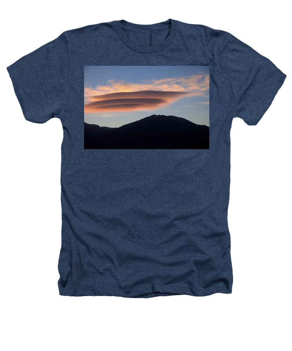 Taos Heathers T-Shirt featuring the photograph Taos Sunset by Jerry McElroy