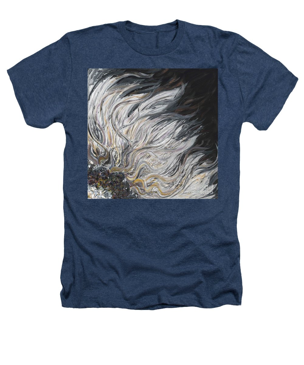 White Heathers T-Shirt featuring the painting Textured White Sunflower by Nadine Rippelmeyer