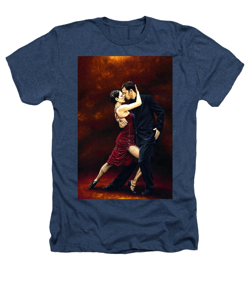 Tango Heathers T-Shirt featuring the painting That Tango Moment by Richard Young