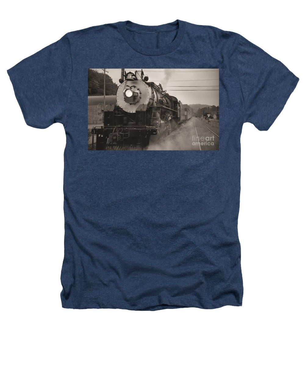 Trains Heathers T-Shirt featuring the photograph The 1702 At Dillsboro by Richard Rizzo