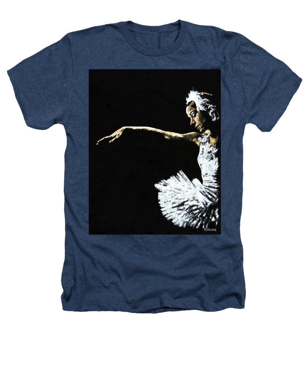 Ballet Heathers T-Shirt featuring the painting The Art Of Grace by Richard Young